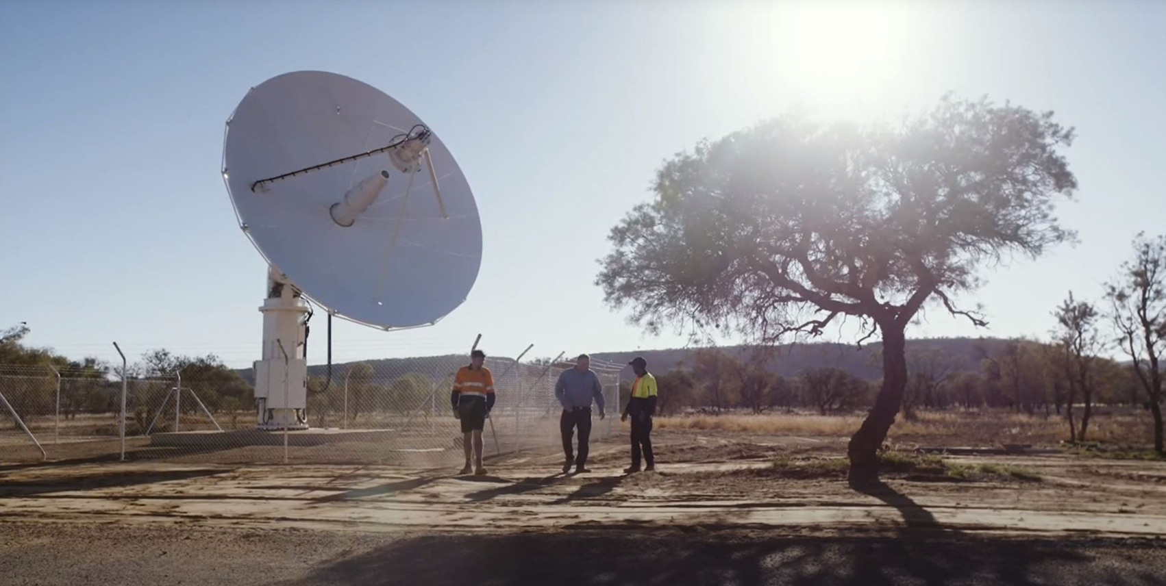 Image of IBA investment, and Earth Ground Station in NT